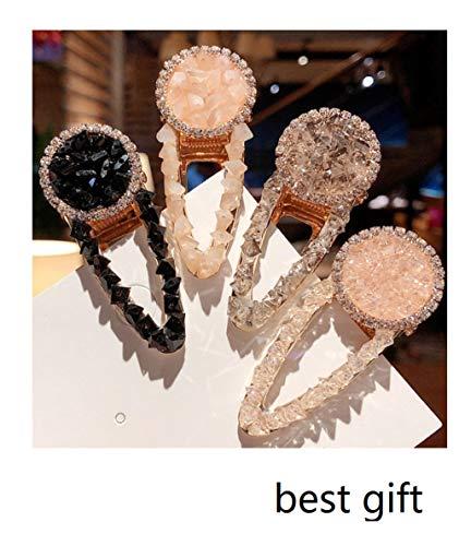 beste geschenk -4 stücke Perlen Haarspangen für Frauen Mädchen Strass/Clips/Krawatten für Geburtstag Valentinstag Geschenke Haarnadeln Headwear Haarspange Werkzeuge Zubehör @ A1 - 12mo Einem Stück