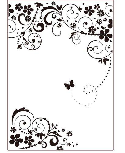Darice 3605-005 Prägefolder - Schablone, Rahmen, Schmetterling - A4, Plastik, transparent, 29.7 x 21 x 0.3 cm (Schablone Darice)