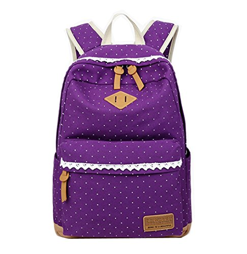 7386a5852dc1 WKBY Girls Backpacks Cute School Bag Women Casual Backpacks Canvas Shoulder Bag  Rucksack Teenage Travel Bags