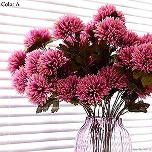 YMKWQF Flor Artificial Dalia Artificial Flor De Dahlia Araña Artificial Seca Flor De Seda Premium para Hotel De Familia Boda Decoración De Oficina (Sin Florero)A 1Pcs