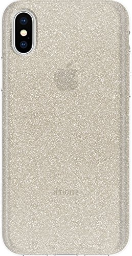 Incipio [Esquire Series] Carnaby Schutzhülle für Apple iPhone 7 / 8 in schwarz [Oberfläche aus Baumwolle | Robuste Hartschale | Edle Optik | Hybrid] - IPH-1485-CBK Champagner glitter