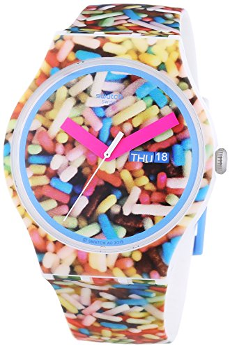 Swatch Gent Sprinkled – Reloj de cuarzo para mujer multicolor