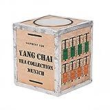 Original Teekiste aus Holz-Teekiste Assam - Vintage Teebox aus Übersee Teekiste - Maße 26x23x23