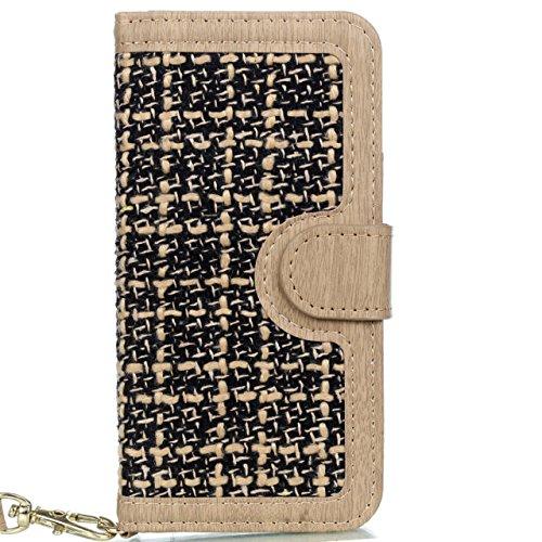 iPhone Case Cover Housse IPhone 7, modèle de tissage PU Housse en cuir de protection Case Wallet Stand avec des fentes pour cartes et cadre photo pour Apple IPhone 7 ( Color : 3 , Size : IPhone 7 ) 4