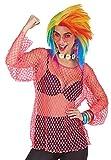 Neon Netz Shirt Pink - Tolles Hemd in Netzoptik für Rocker, Bad Taste oder Disco Kostüme Karneval oder Mottoparty