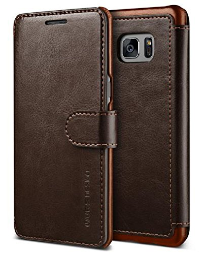 Galaxy Note 7Funda, VRS diseño [capas Dandy] [marrón café]–[Premium piel] [Slim Fit] para Samsung Note 7