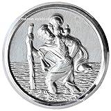 Heiliger Sankt Christophorus Medaille Emblem Plakette 45 mm selbstklebend