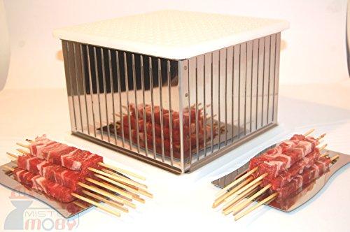 Mistermoby cubo inox maxi 225 arrosticini spiedini carne pesce kebab prezzo imbattibile!