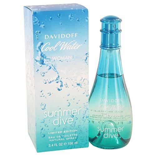 Davidoff Cool Water Summer Dive Eau de Toilette 100ml Spray - Diva Eau De Parfum Spray