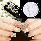 DIY Nail Art 3d Blanc Acrylique Pearl Manucure Gem Paillettes Décorations
