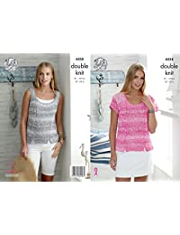 King Cole 4458 Knitting Pattern Ladies Top and Vest to knit in Vogue DK