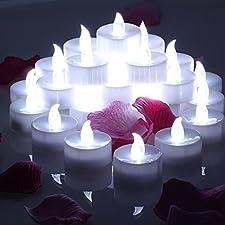 Conmemorativa LED Velas con temporizador, meiso 24unidades LED teelichter con temporizador, 6horas a y 18horas de, Eléctrico flackernde batteriebetriebene velas, luz blanca