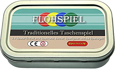 Brimtoy Flohspiel. Traditionelles Spiel im Taschenformat.