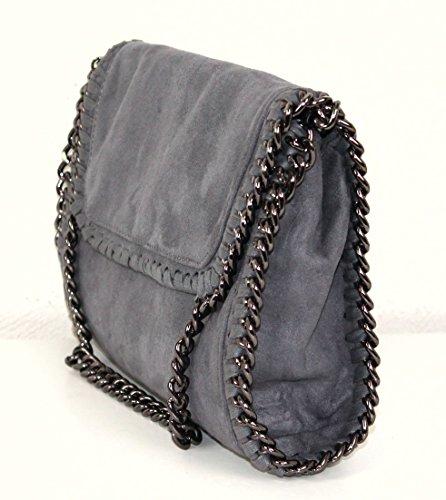 Limited-Colors, Poschette giorno donna Nero nero s Grau Velours