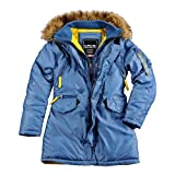 Alpha Industries - PPS N3B Frauen Winterjacke (XL, Arctic Blue)