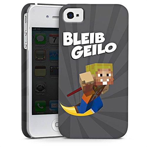 Apple iPhone X Silikon Hülle Case Schutzhülle LPmitKev Fanartikel Merchandise Bleib Geilo Grau Premium Case glänzend
