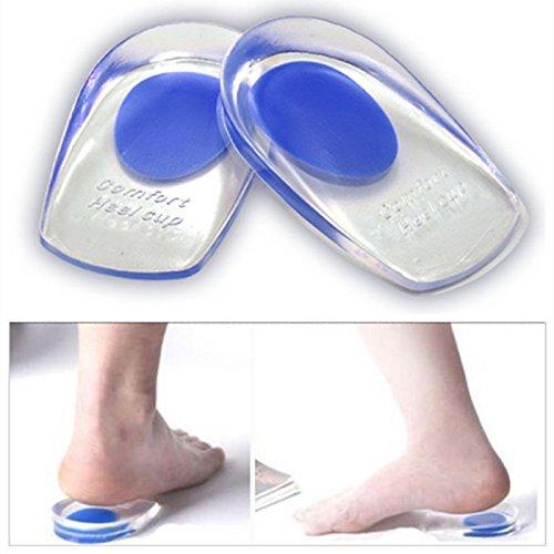 careopodytm Komfort Gel Ferse Keile, reduziert neigen Force, lindert Plantarfasziitis und achillessehnenentzündung (Blau Der Mitte Ferse)
