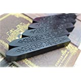 XICHEN® tallada sello de cera de barras de cera de sellado para Retro Vintage Magic flecha patrón tiras de cera, color 5 unidades negro