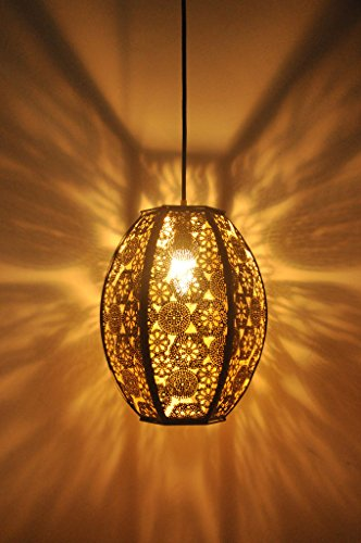Logam Black and Gold Turkish Hanging Lamp