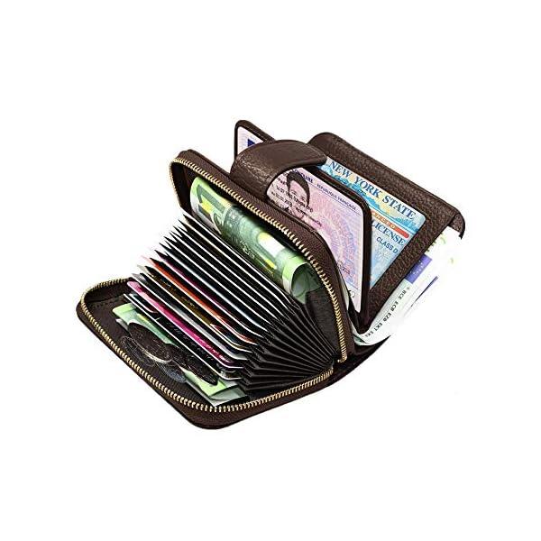 SPECOOL Porta Carte di Credito,Genuino del Titolare della Carta di Credito in Pelle e blocco RFID, Tasca Banconote… 1 spesavip