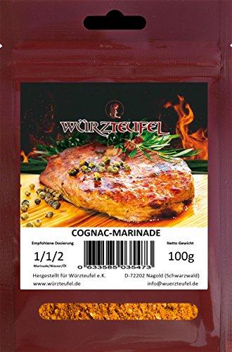 XO Cognac - Pfeffer Marinade, aromatische Grill - Marinade für echt gute Rinder - Steaks & Pulled Pork. Beutel 100g.