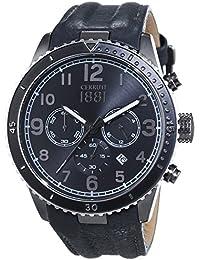 Cerruti 1881 VOLTERRA CRA104SUB02GY - Reloj para hombres, correa de cuero color gris