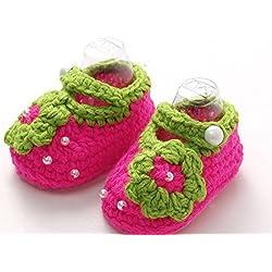 nalmatoionme recién nacido Lovely ganchillo flores Pearl sandalias niños zapatos