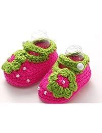TFXWERWS: Sandalias para recién nacido hechas con flores de crochet
