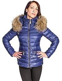ee7153de83c12a Chaleur Fashion Winterjacke Alice mit Fellkapuze in Royal- Blau, Pelz,  Echtfell