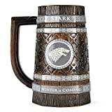 Game of Thrones Haus Stark Bierkrug - Game of Thrones Winter is Coming Bierglas Humpen