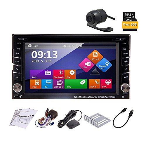 6.2 Zoll-Digital-Bildschirm-Steuergerät Win 8 Car Stereo in Dash Autoradio Bluetooth 2 DIN Auto-DVD-CD-Video-Player Unterstützung USB / SD Aux FM AM-Empfänger GPS-Navigation Auto PC 800MHZ CPU - Bed Head Player