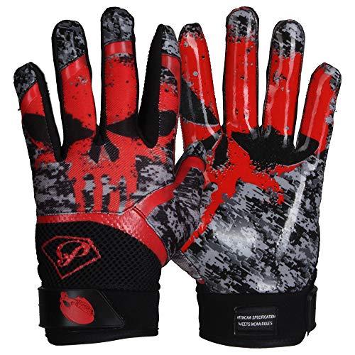 Prostyle Alien Skull Receiver Gloves - rot Gr. L