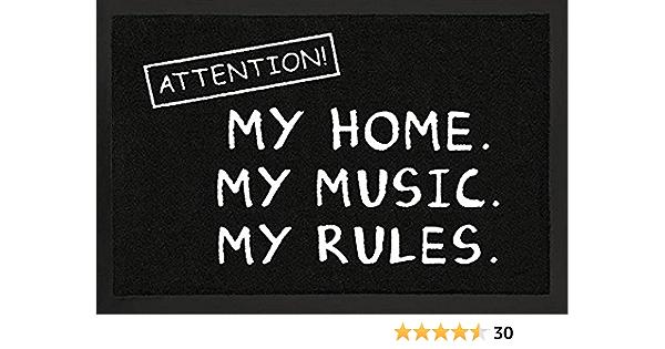 Schmutzmatte Türmatte Fußmatte Achtung Meine Wohnung Meine Musik Meine Regeln