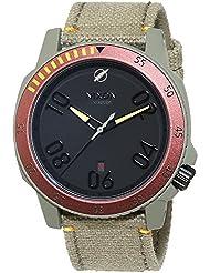 Nixon Herren-Armbanduhr Ranger SW Boba Fett Red / Gray Analog Quarz Leder A506SW2241-00