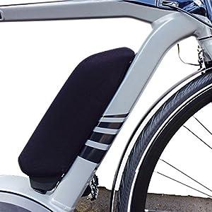 513MmLkWJOL. SS300 nc-17e-bike battery Protector Thermo cover/batteria per Bosch o telaio Yamaha batteria, Bosch portapacchi batteria/neoprene/nero