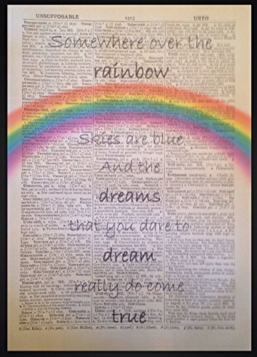Descargar PDF Somewhere Over The Rainbow Lyrics Vintage Dictionary