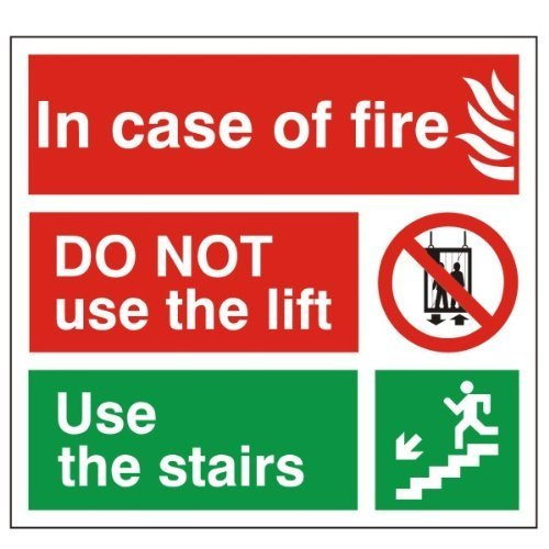 incase-of-fire-do-not-use-the-lift-sign-150x150-rigid-plastic