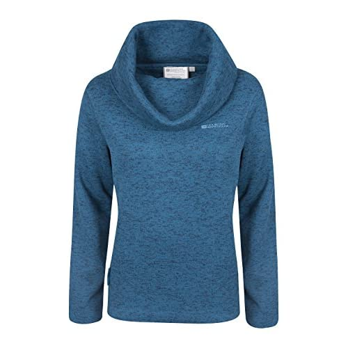 513Mo0H3LwL. SS500  - Mountain Warehouse Idris Womens Cowl Neck Fleece - Lightweight Autumn Pullover, Breathable Ladies Top, Cosy - Perfect As A Baselayer