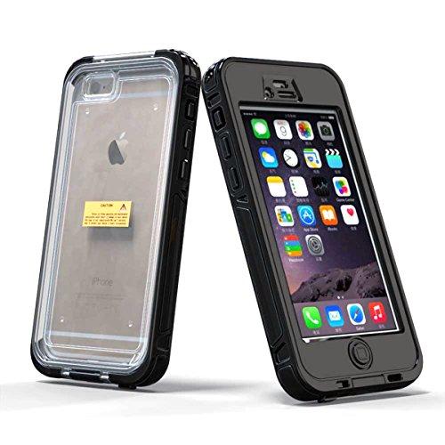 iPhone 6 Wasserdicht Hülle Casefirst Rugged Schale Case IP68 Certified TPU + PC Hülle Extreme Durable 360 °Staubdicht Wasserdicht Stoßfest mit eingebautem Displayschutzfolie Schutzhülle Ganzkörper Schutzhülle - iPhone 6(Black)