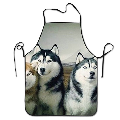 ghnfgxchxfg Siberian Husky Dog Overhand Apron Black Personalization Pinafore Grill Intended for Teens One Size Polyester (Black Bier Dog)