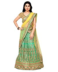 Naaidaakho Womens Net & Art SilkLehenga,16_SW_502_Green_Freesize