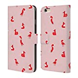 Official Robert Farkas Winter Fox Man Fox Leather Book Wallet Case Cover For Apple iPhone 6 Plus / 6s Plus
