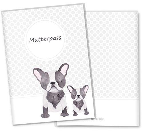 wolga-kreativ Mutterpassh/ülle Hasenfamilie Mutterpass Filz Filzh/ülle Schwangerschaft Geschenk Idee Umschlag anthrazit