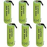 Set di 6 Batterie Ricaricabili Accumulatore Ni - MH AA 1,2V 1600mAh - T. a Saldare (Confezione da 6 Batterie)