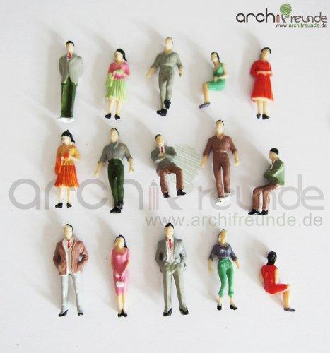 25 x Modell Figuren für Modellbau 1:50, Modelleisenbahn Spur 0 -