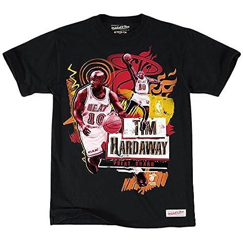 Mitchell & Ness Miami Heat Tim hardaway, Tailored Player NBA T-shirt noir, Noir