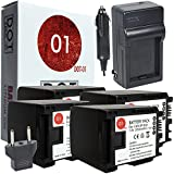 4x DOT-01 Brand Canon HF G40 Batteries And Charger For Canon HF G40 Camera And Canon HFG40 Battery And Charger Bundle For Canon BP820 BP-820