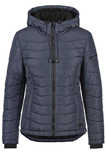 Blend SHE Nyla Damen Übergangsjacke Steppjacke leichte Jacke gefüttert mit Kapuze, Größe:XXL, Farbe:Mood Indigo (20064)