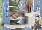 Abschließbarer Fenstergriff mit 2 Schlüssel weiß