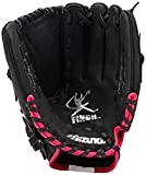 Mizuno GPP1105F1 Finch Prospect Softball Glove, 11-Inch, Right Hand Throw, 11 inches/Black|Pink